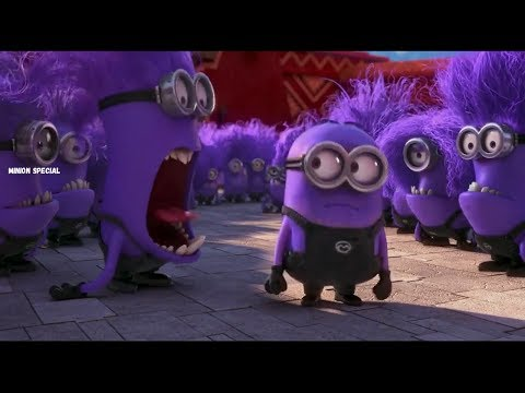 The Purple Minion Attacks scene Despicable Me 2 2013