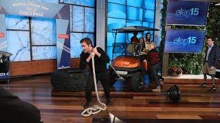 Jake Gyllenhaal Takes the Boston Strongman Challenge