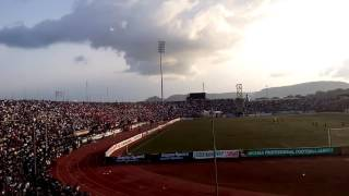 Ecstatic Enugu rangers Fans at the Cathedral yesterday