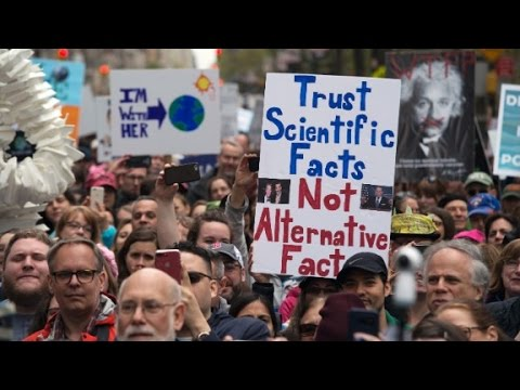 Protesters to Trump Science matters