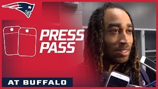 Patriots players react to the win over the Bills