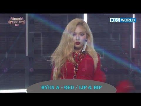 Hyun A - Red  Lip & Hip  [2017 KBS Song Festival   2017 KBS 가요대축제  2017.12.29]