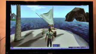 Experimental PC-HD-to-HDTV 1920x1080 Display, 3D HDTV Perspective Immersive demo