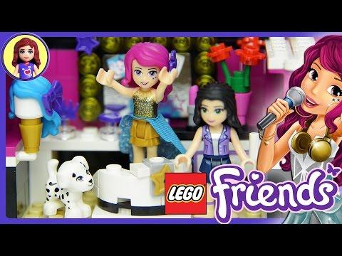 Lego Friends Pop Star Dressing Room Set Unboxing Building Review - Kids Toys