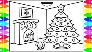 HAPPY HOLIDAYS ❤️💚 How To Draw A Christmas Tree For Kids 🎄Christmas Coloring Pages For Kids