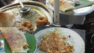 South Indian Food in Kolkata Street   Dosa - Idli   South Indian Street Food for Breakfast and Lunch