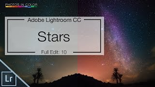 Lightroom 6 Tutorial - Edit Star Photos in lightroom CC Tutorial