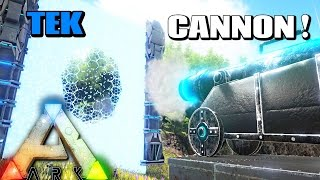 ARK Survival Evolved - TEK CANNON WILL DESTROY ENTIRE BASES! HEAVENLY WEAPONS & MORE ( Gameplay )