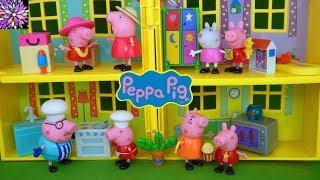 Peppa Pig Toys Figure Sets Mummy Pig Daddy Pig Doll Play House Toy Video for Kids