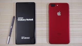 Galaxy Note 8 vs iPhone 7 Plus iOS 11 - Speed Test! (4K)