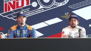 Alonso and Rossi Pole Day News Conference