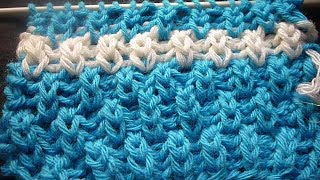 تريكو نقشة العمودجديدة وسهلة للمبتدئين لكافة الاعمالStitch knitwear columns