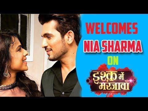 Xxx Mp4 Arjun Bijlani Welcomes Nia Sharma On Ishq Me Marjawan Set 3gp Sex