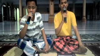 Sholawat merdu dua sejoli (Sholawat Al Kirom, Ya Ayyuhal Mukhtar)