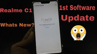 Realme C1 Software Update | Realme C1 First Color Os Update | Better Camera Quality | Thetechtv