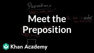 Meet the preposition | The parts of speech | Grammar | Khan Academy
