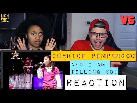 Charice Pempengco And I Am Telling You VS Reaction
