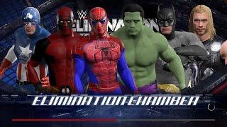WWE 2K17 Wtf Spiderman vs Hulk vs Deadpool vs Batman vs Captain America vs Thor