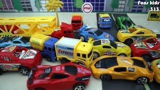 Mainan mobil sport, truck trailer, truck expes I vidio for children
