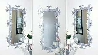 Using Cereal Boxes to Make a Unique Wall Mirror Decor!