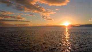 2 HOURS Most beautiful Ocean sunset [FullHD] with natural sound of Atlantic Ocean