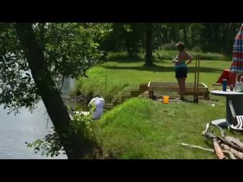 Time Lapse Test Nikon D7200 River Deck Dock Build