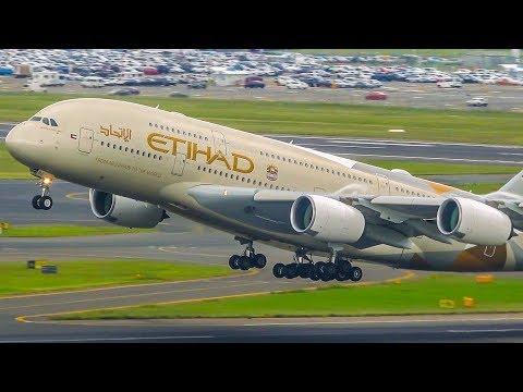 16 ROARING Sydney Take Offs A380 B747 B777 A330 B787 Sydney Airport Plane Spotting