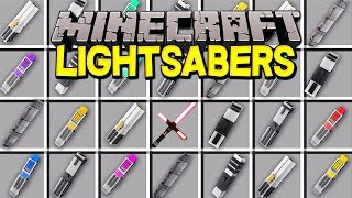 Minecraft LIGHTSABERS MOD! | CUSTOM STAR WARS LIGHTSABERS, FORCE POWERS, & MORE! | Modded Mini-Game