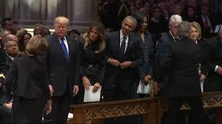 Presidents club assembles for Bush funeral