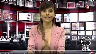 Une présentatrice JT légèrement vêtue en Albanie - 2016/03/01