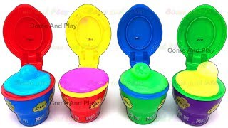 Fun With Slim Flarp! Noise Putty Surprise Toys Learn Colors Play Doh Ice Cream Popsicles For Kids