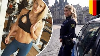 Hot police officer Adrienne Kolesza in Germany named the fittest cop in the world - TomoNews