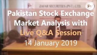Pakistan Stock Exchange Tips and KSE 100 Index Market Summary (in Urdu) 14 January 2019