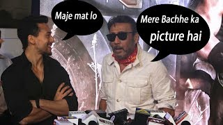 jackie shroff Full Tapori Comment in front Of tiger shroff Film Baahgi 2