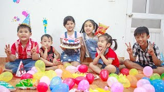Kids Go To School | Day Birthday Of Chuns Play In Ball Garden The Children