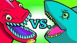 My Cute Shark Attack Cartoon #14 (Shark Super Hero vs. Dino Monster Truck! +BEST OF) kids cartoons!
