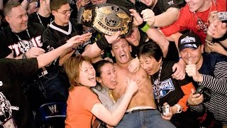 John Cena celebrates winning the WWE Championship: WrestleMania 21