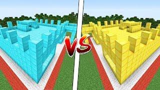 ELMAS KALE VS ALTIN KALE! - Minecraft KALE SAVAŞLARI