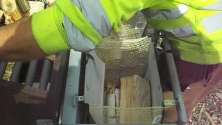 Firewood packing in 30L bags