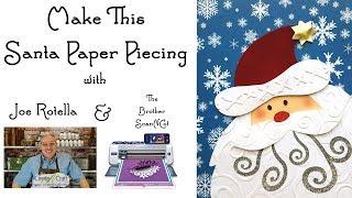 Santa Paper Piecing Embellishment - Brother ScanNCut Free Download Dec 2017