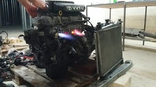 Running Toyota engine 1SZ-FE out of car