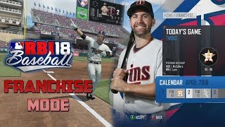 R.B.I. Baseball 18 (Xbox One) A Look Into The New Franchise Mode With The Minnesota Twins