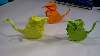 How to make Origami Mouse (hoang tien quyet)