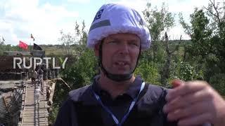 Ukraine: OSCE deploys 24 hour monitors to forward patrol base at Stanytsia Luhanska