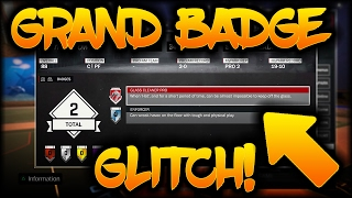OMG GRAND BADGE GLITCH? NO BADGES WITH A GRAND BADGE WTF 2K?!!! NBA 2K17 GLITCH  THIS IS INSANE!