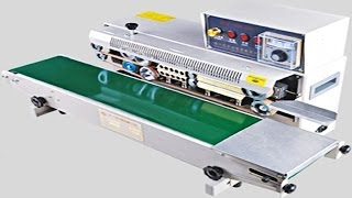 how to install&operate horizontal continuous plastic bags sealing machine with ink printing wheel
