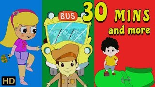 Wheels On The Bus Go Round And Round   Kindergarten Songs For Children   Nursery Rhymes For Babies