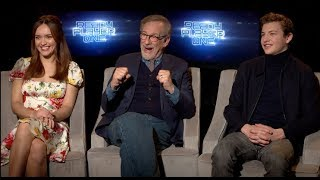 READY PLAYER ONE interviews - Spielberg, Cline, Sheridan, Cooke, Lena Waithe, Mendelsohn