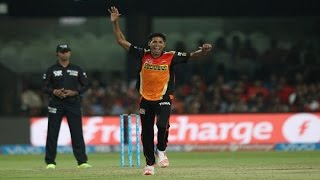 Sunrisers Hyderabad vs Kings XI Punjab ``Mustafizur Rahman Bowling 2016``