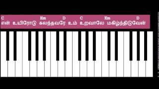 Thayinum Melai Song Keyboard Chords - G Chord